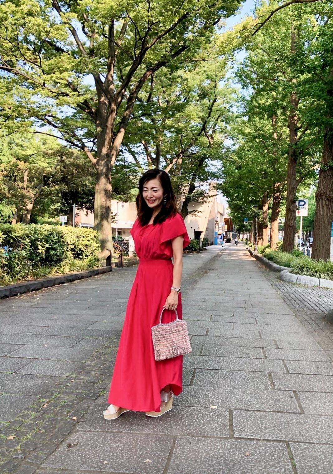 真っ赤なワンピースを着て横浜へ♪_1_1