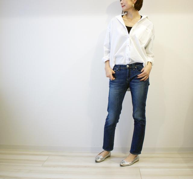 UNIQLOのデニムオーバーシャツで40代のエフォートレスコーデ_1_4