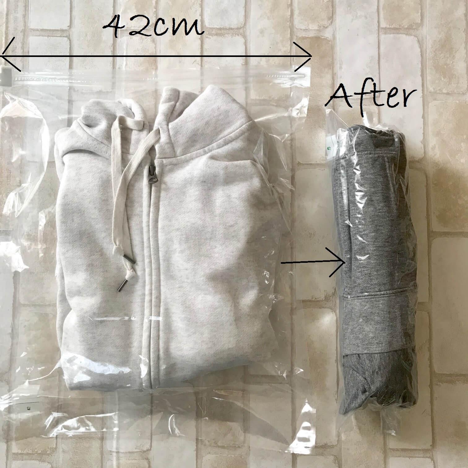無印良品圧縮袋使用例画像