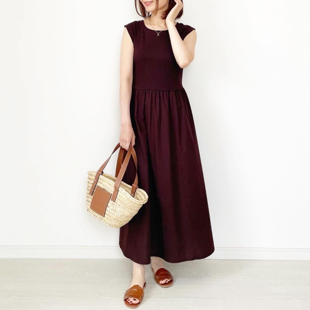 夏のブラウンで品よくこなれる! 大人のプチプラ高見えも叶えるブラウンコーデまとめ 40代ファッション_1_24