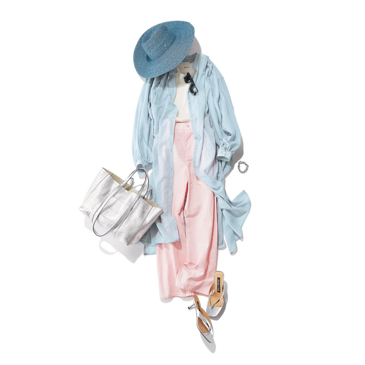 【夏に映えるブルーコーデまとめ】アラフォーが上品かつこなれて見えるコーデのポイントとは? |40代ファッション_1_10