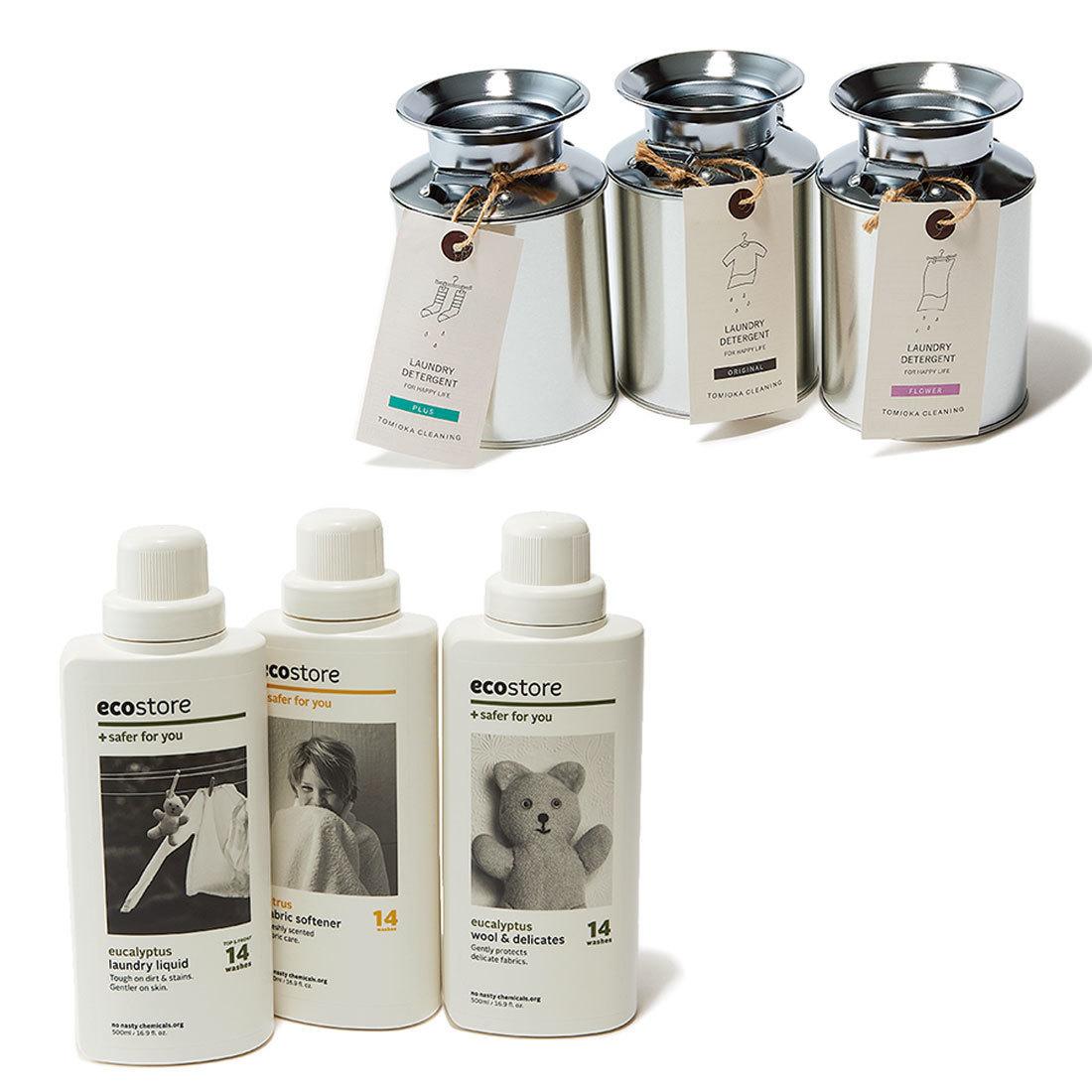 エコストアのナチュラル洗剤&とみおかクリーニングのミルク缶粉洗剤