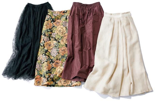 徳原文子さんの私物スカート