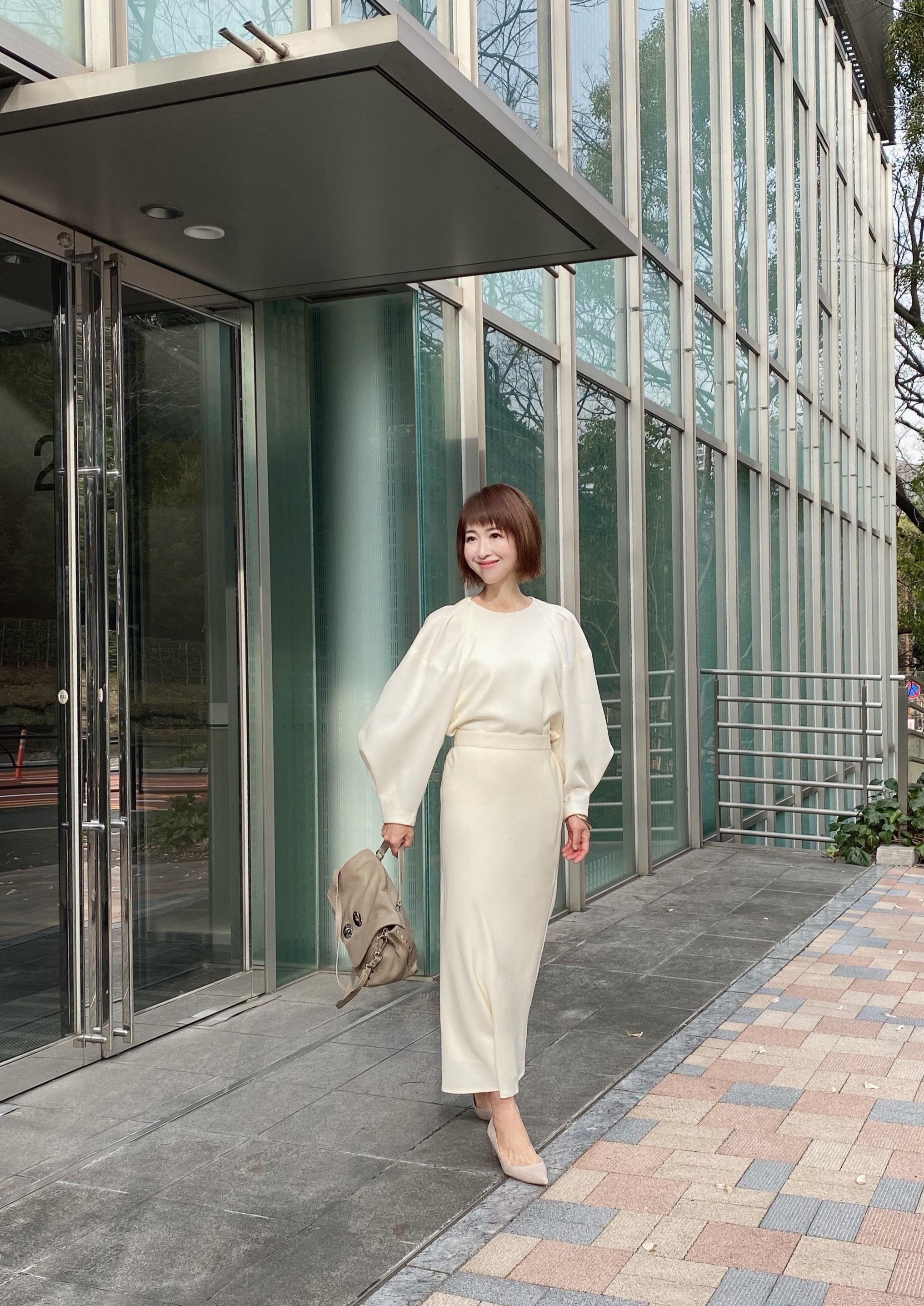 ハンサムロングスカート 〜ホワイト〜_1_4