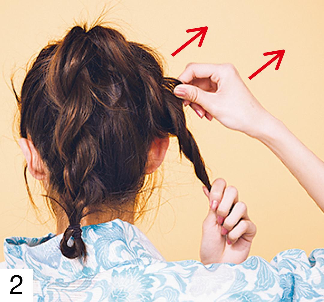 ゆかたのヘアアレンジ・ロングのおだんご+色っぽ後れ毛編♡ 【2019年ゆかた特集】_1_4-2