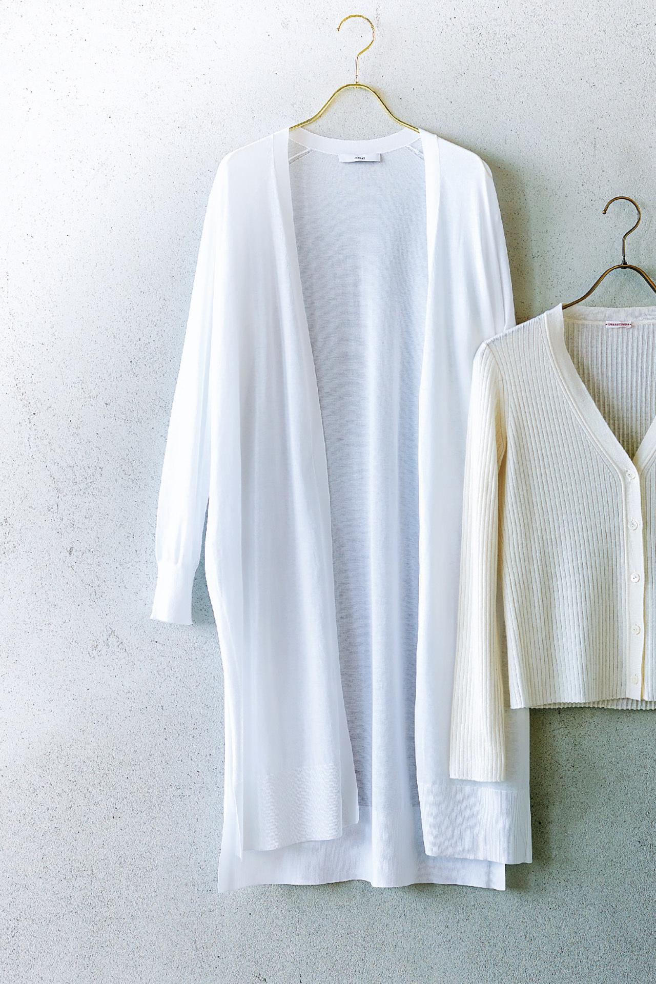この季節、何はなくとも必要な優秀服は「白いロングカーディガン」 五選_1_1