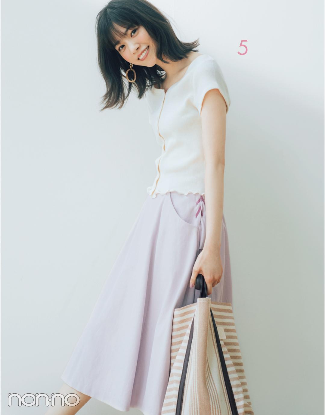 西野七瀬のセットアップで着回しコーデ1×7♡ 淡いピンクはきれいめ派に必須!_1_3-5