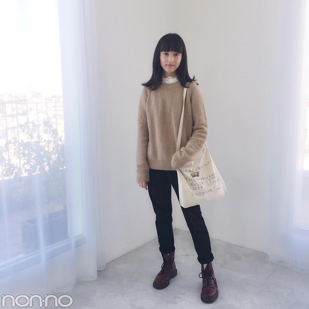 山田愛奈はドクターマーチンのボルドーブーツを差し色に♡【モデルの私服】_1_1