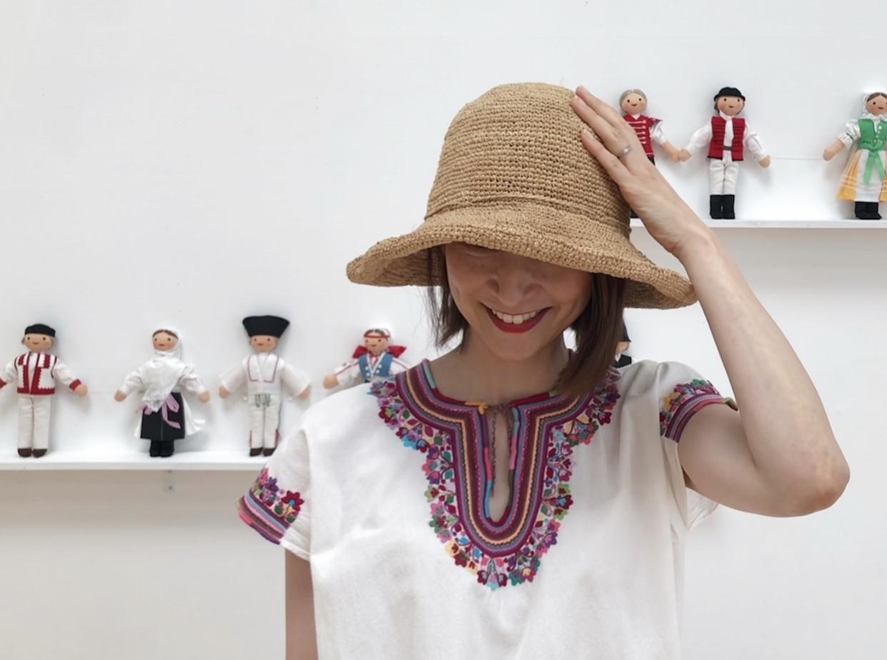 刺繍トップスで、横須賀美術館「糸の世界」へ♩_1_6