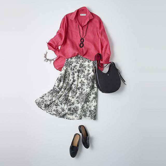 <スカートを着回し> まとうだけで気分が上がる とびきりきれいな色を普段使いに