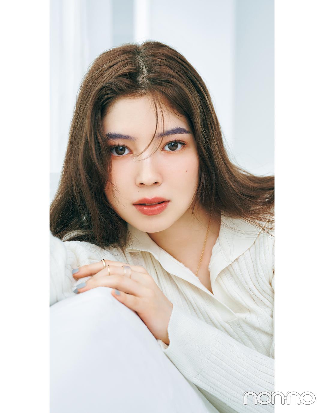 岡本夏美のニュアンス盛れる眉のつくりかたカワイイ選抜モデルカット4-7