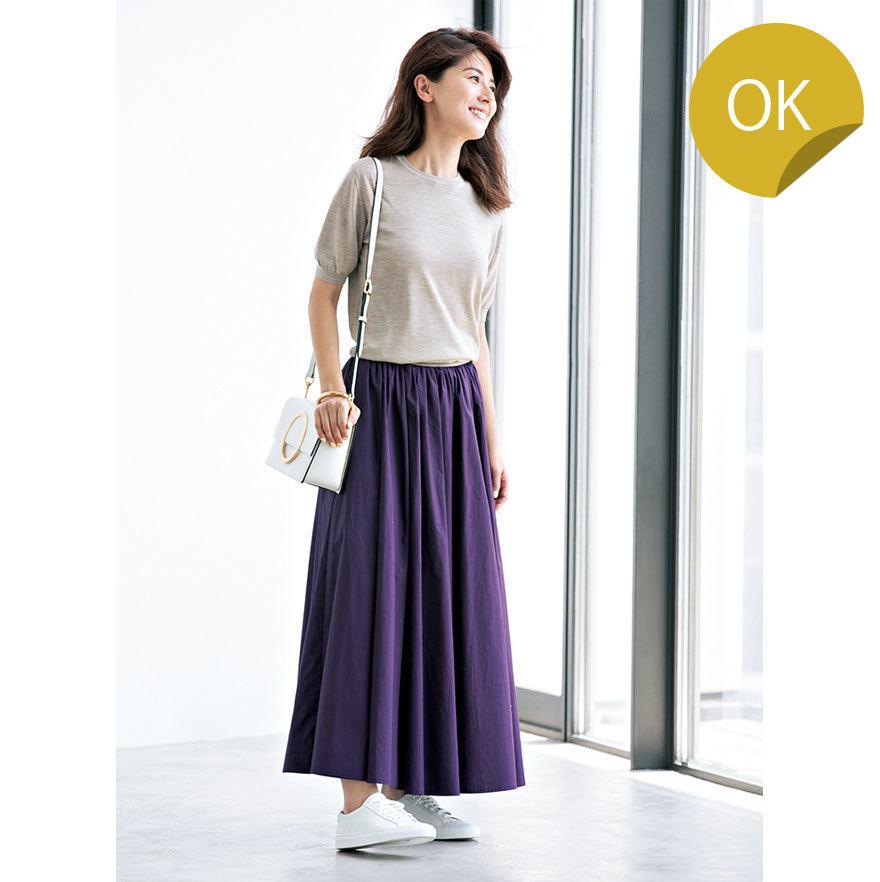 ニット×スカートのファッションコーデ