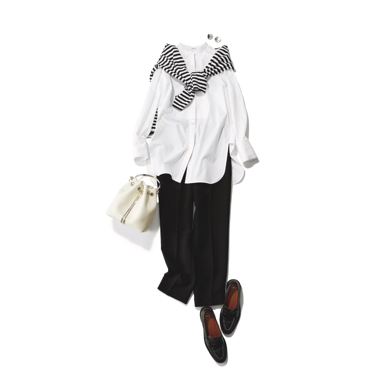 定番の黒パンツを極める!今っぽく、おしゃれで、美脚見えする黒パンツコーデまとめ|40代ファッション_1_6