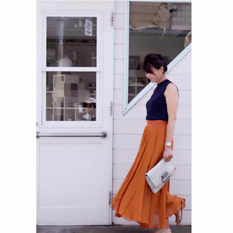 きれい色大人ロングスカート_1_2