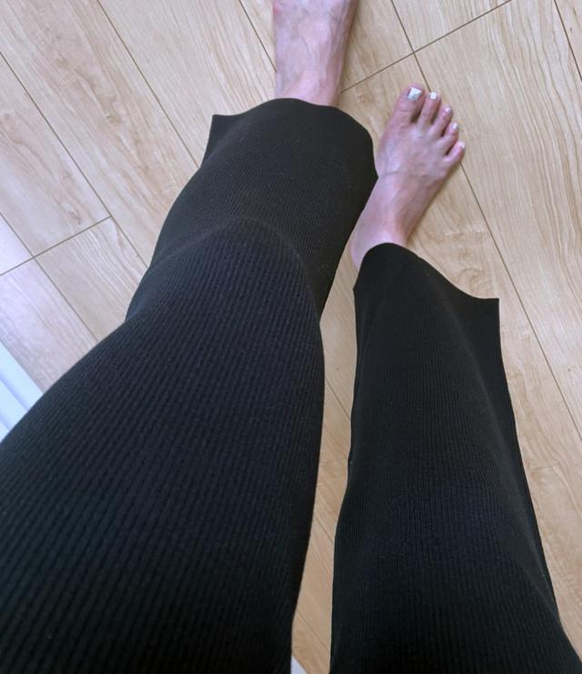 【セール戦利品】シルエットが綺麗すぎる美脚リブニットパンツ。_1_2