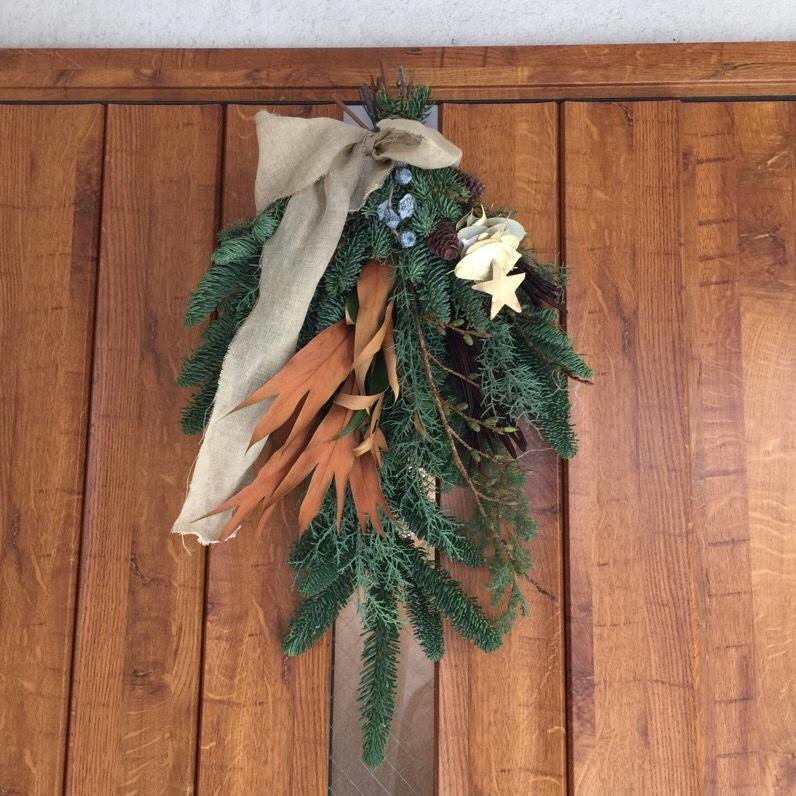 12月!我が家のクリスマスはスワッグから。_1_4
