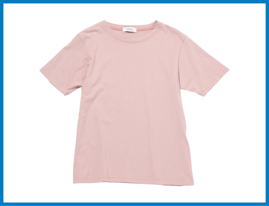 くすみピンクのTシャツ、今買ってもこれだけ着倒せる! 最新コーデ4選★_1_2