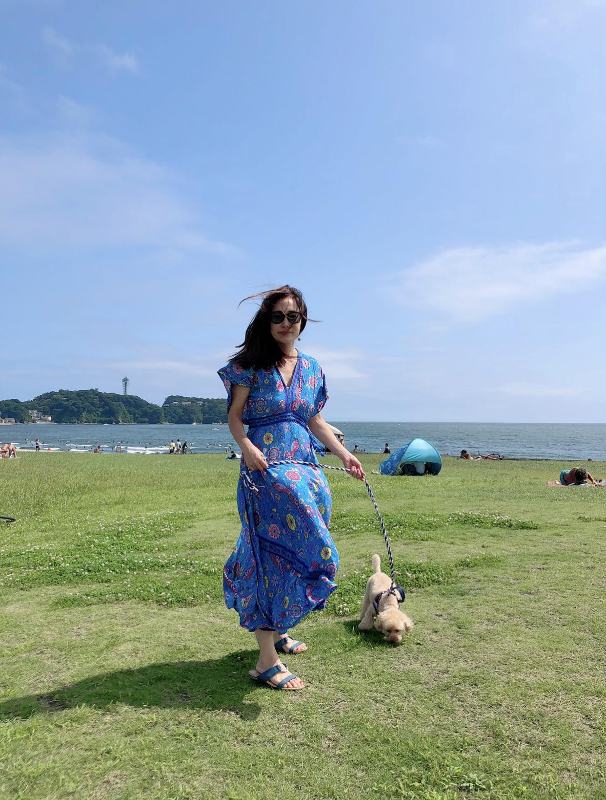 ボタニカル柄ワンピで過ごす夏の週末♪_1_5