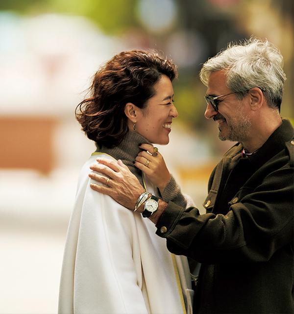 人気スタイリスト 大草直子のショッピング&ランチのときの休日ファッションコーデ ジュエリーで男と女を表現