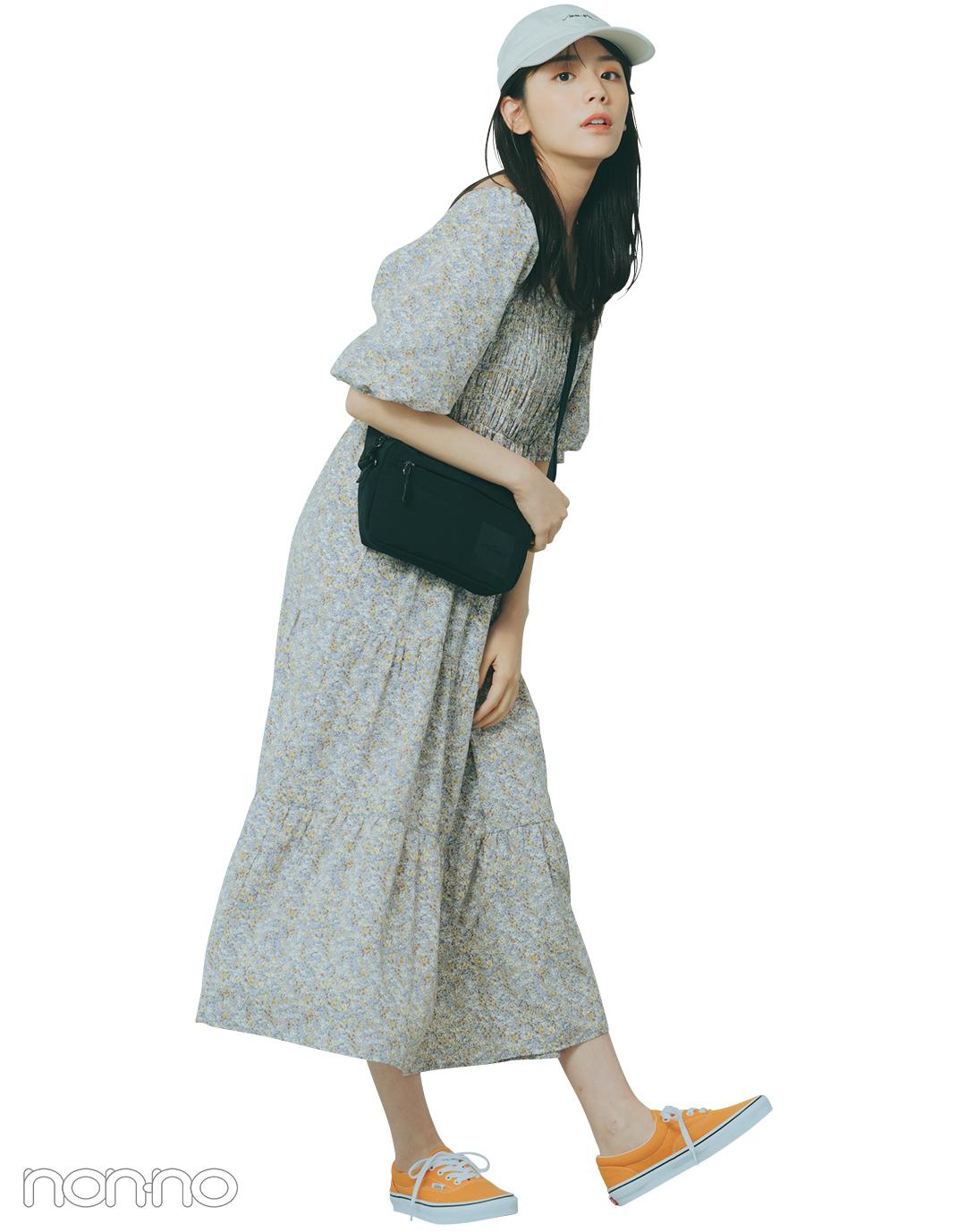 『貴島明日香』の『パフスリーブワンピ』モデルカット6−1