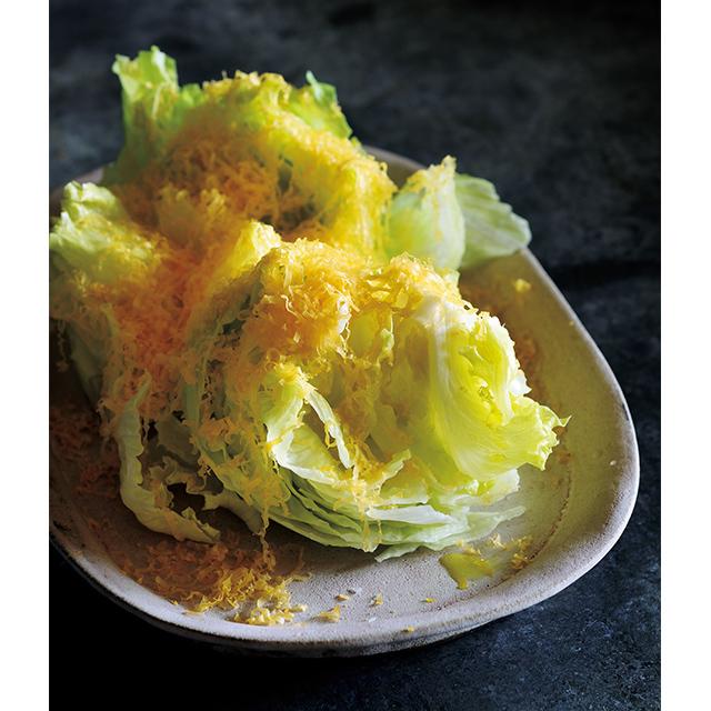 <冬こそチーズでおもてなし>レタスのミモレットサラダのレシピ_1_2