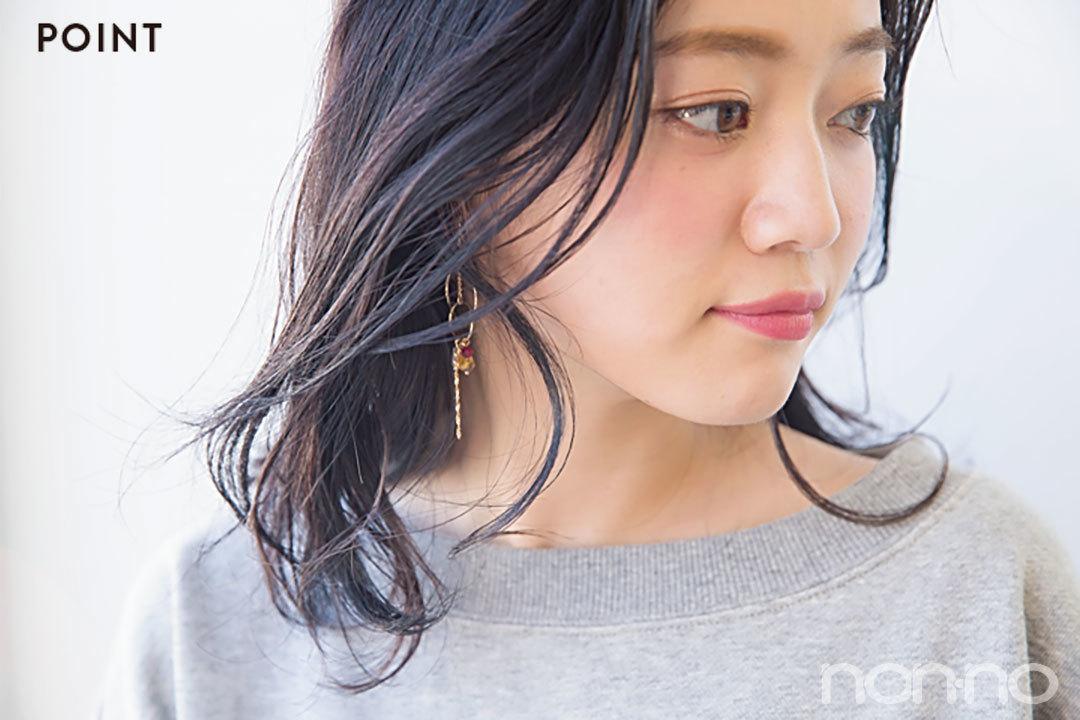 春映えヘアカタログ★ミディアムは部分パーマで華やかに!_1_2