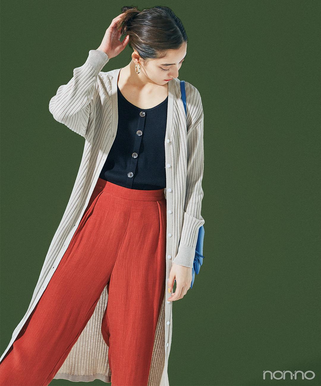 新木優子が着るGUのタンクトップ