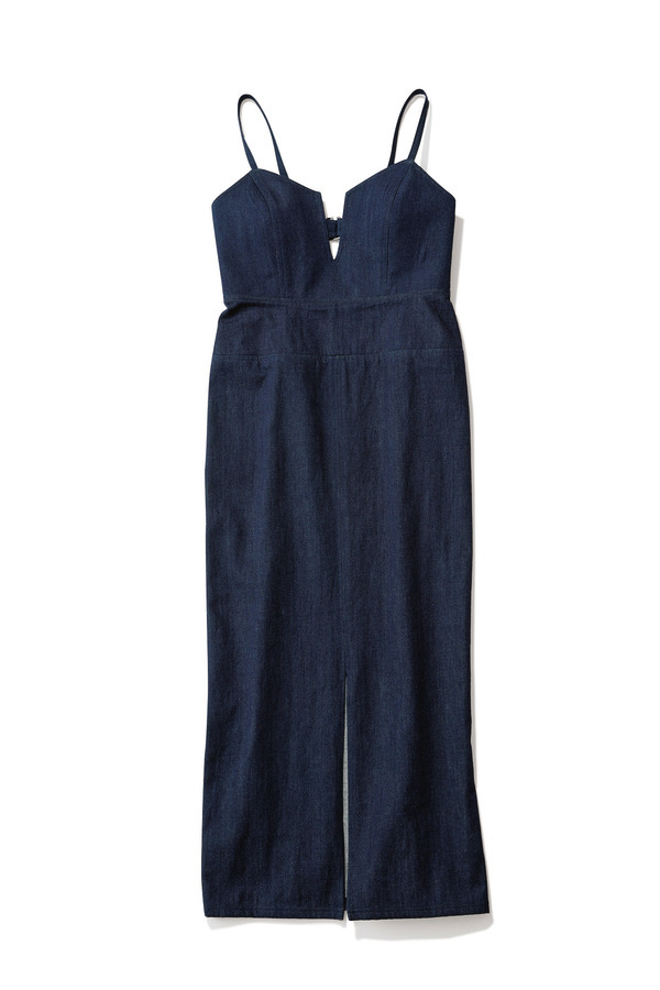ファッション ミュラー オブ ヨシオクボのデニムキャミワンピース