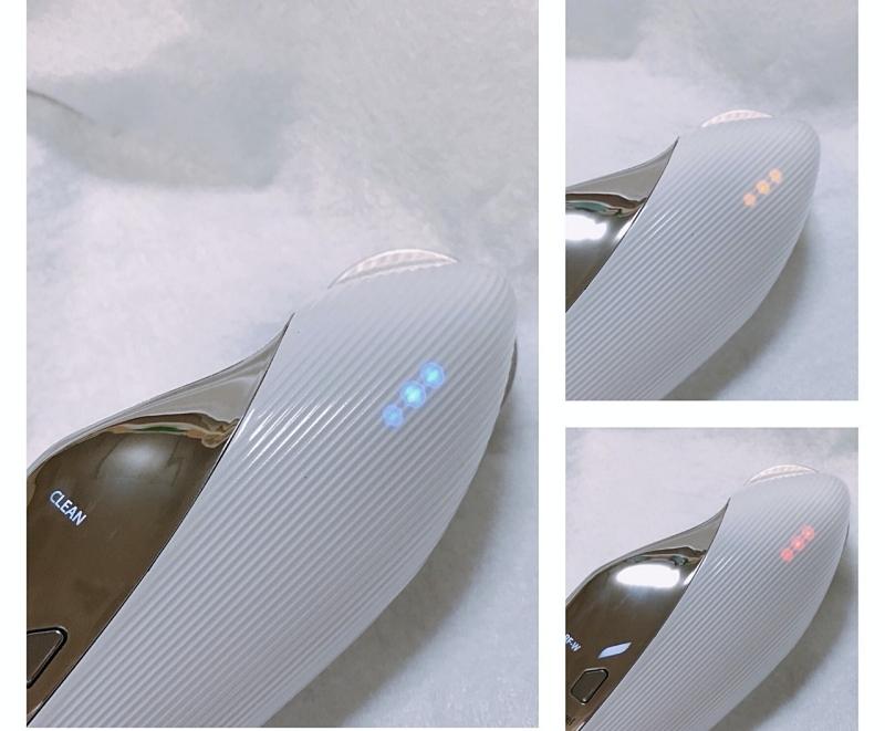 リファの美顔器は背面LEDで何の背術か ひと目でわかる