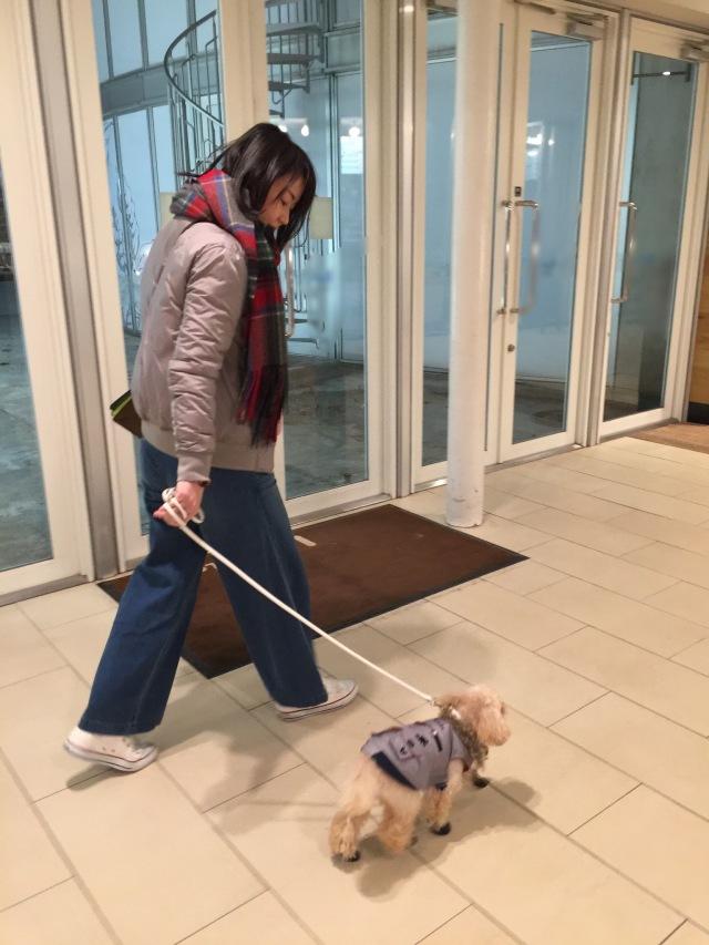 ちーちゃんとお揃いコーデでお散歩です。