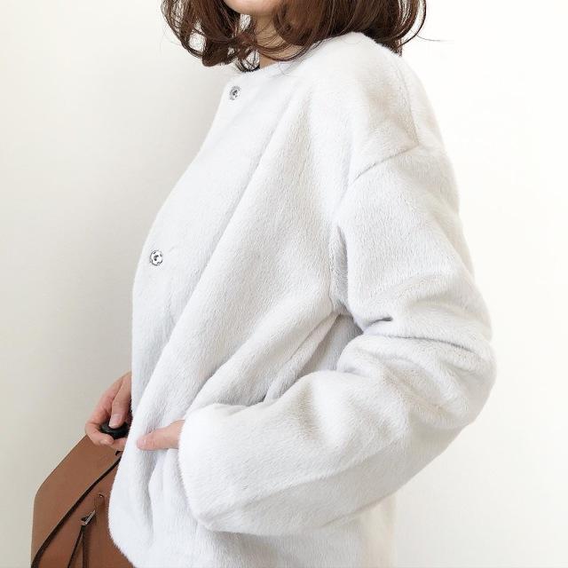 『UNIQLO』ふわふわ極上の手触り♡冬の白アウター【tomomiyuコーデ】_1_3