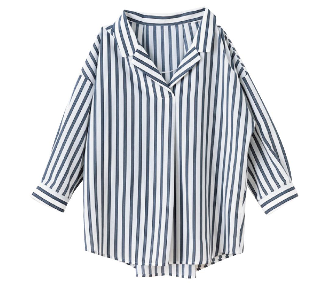 GUの名品も! 着るだけでスタイルアップ★ストライプシャツ!_1_3-2