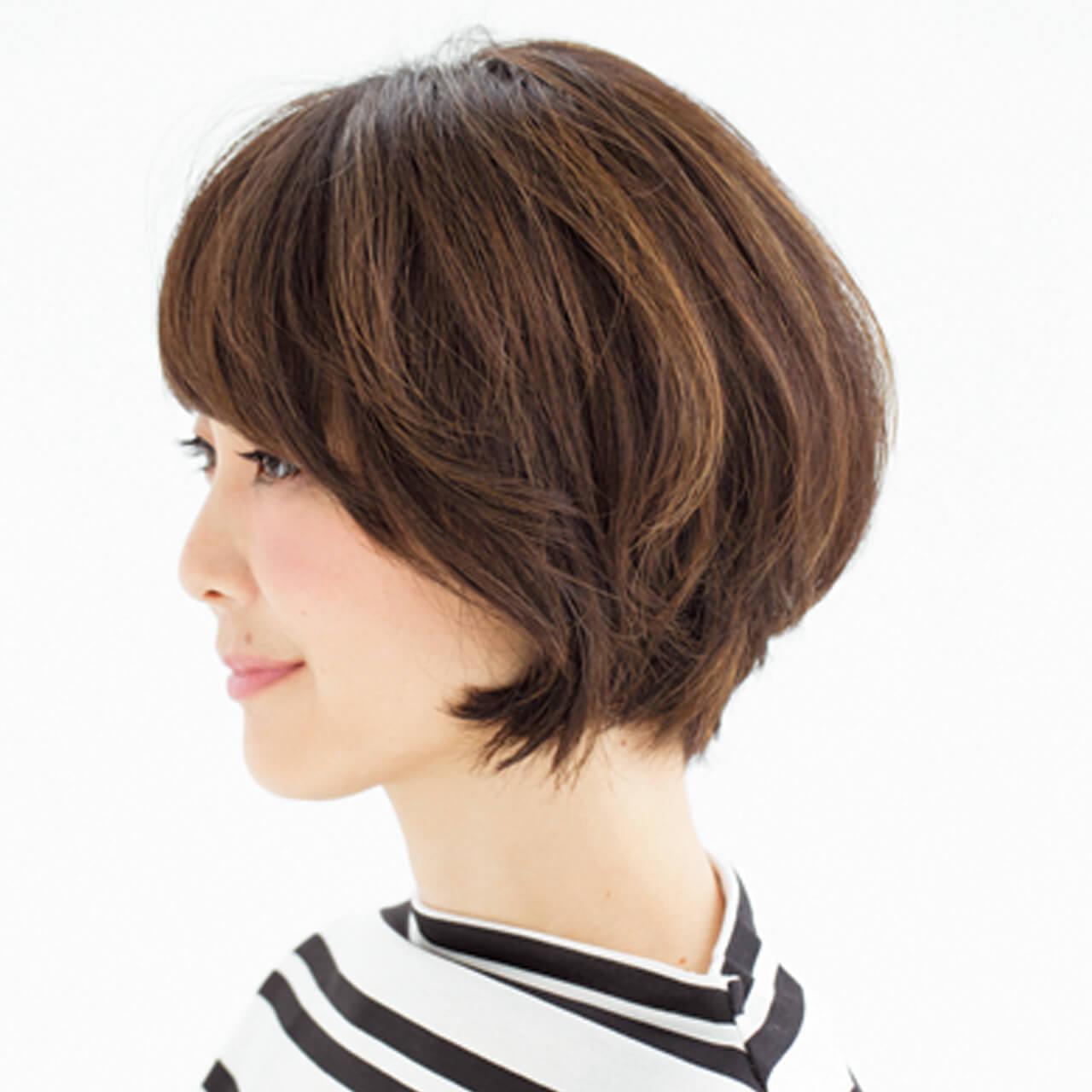 気になる白髪はグラデハイライトと深め前髪で解決!【40代のショートヘア】_1_2