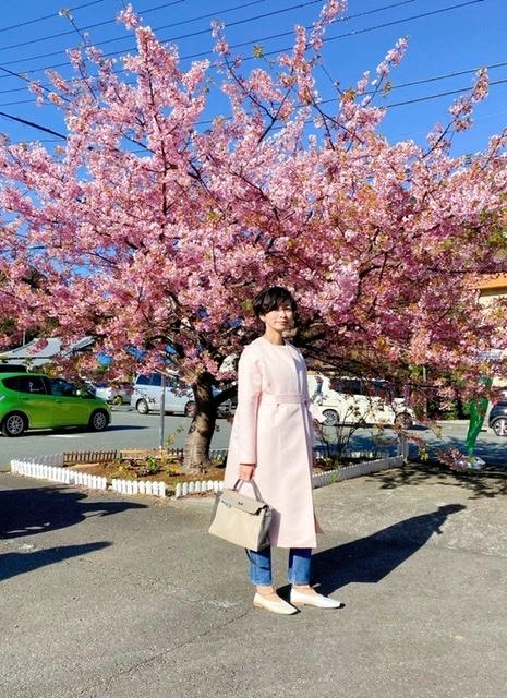 さくら色のコートで春の伊豆へ_1_1