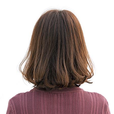 厚め前髪でトップのボリュームを出して。若見えボブヘア【40代のボブヘア】_1_3