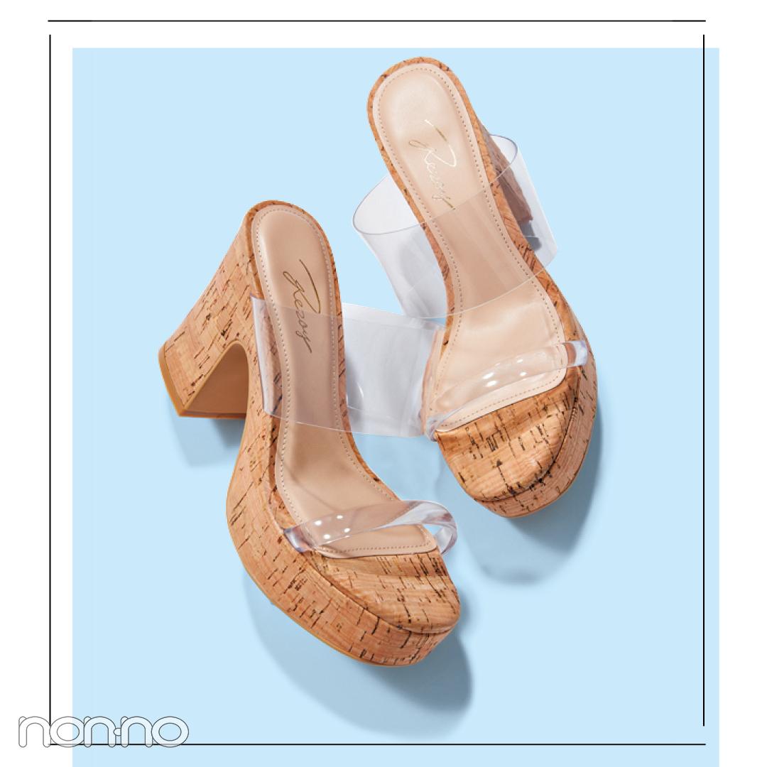 サンダル2019★ トレンドのクリアサンダルに靴下を合わせるってアリ? _1_2