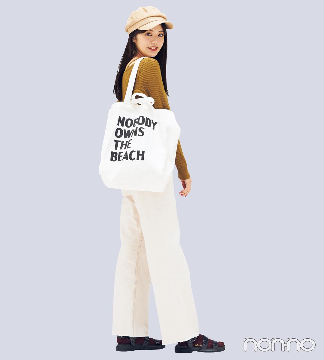 カジュアル派の毎日バッグに「白キャンバストート」は外せない_1_4