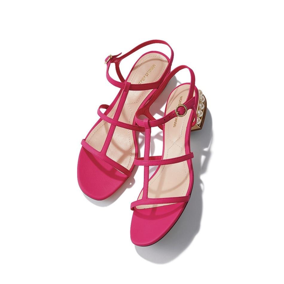 ファッション ニコラス カークウッドのピンクサンダル