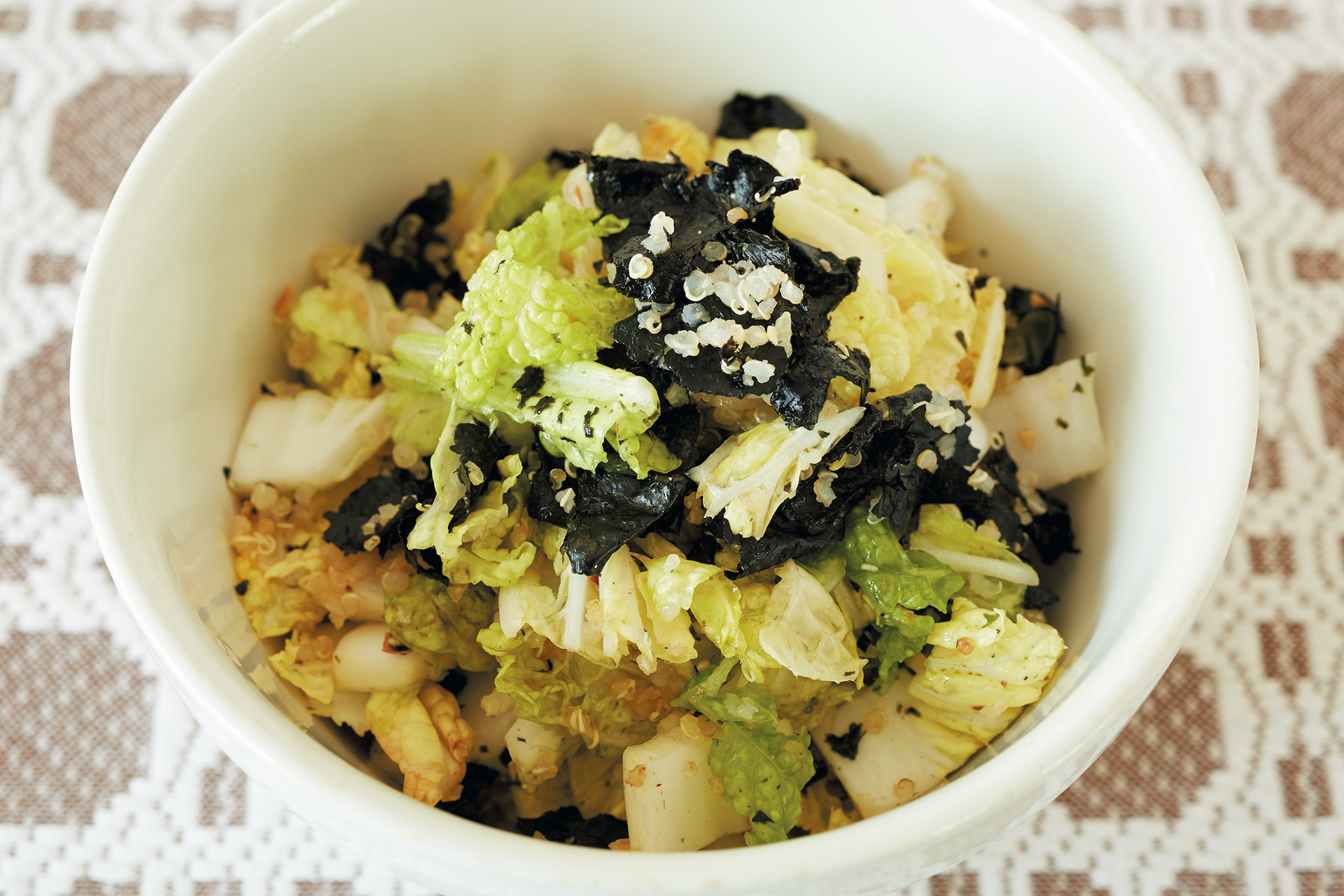 野菜の歯ざわりとさわやかな香りを楽しむ 白菜とキヌアのサラダ_1_1