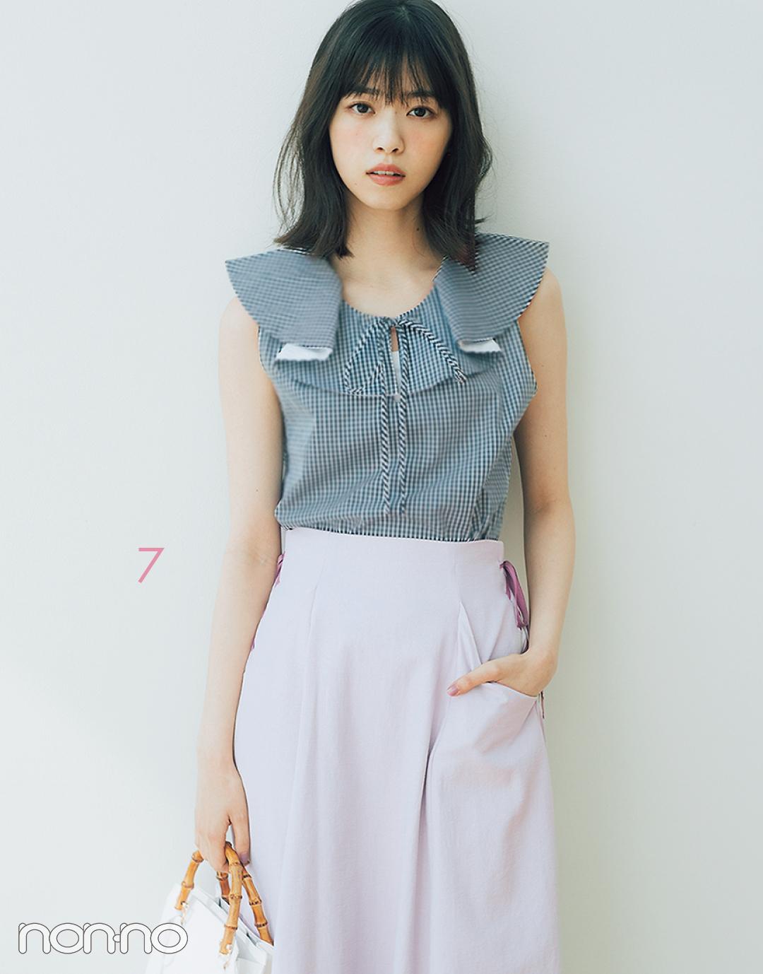 西野七瀬のセットアップで着回しコーデ1×7♡ 淡いピンクはきれいめ派に必須!_1_3-7