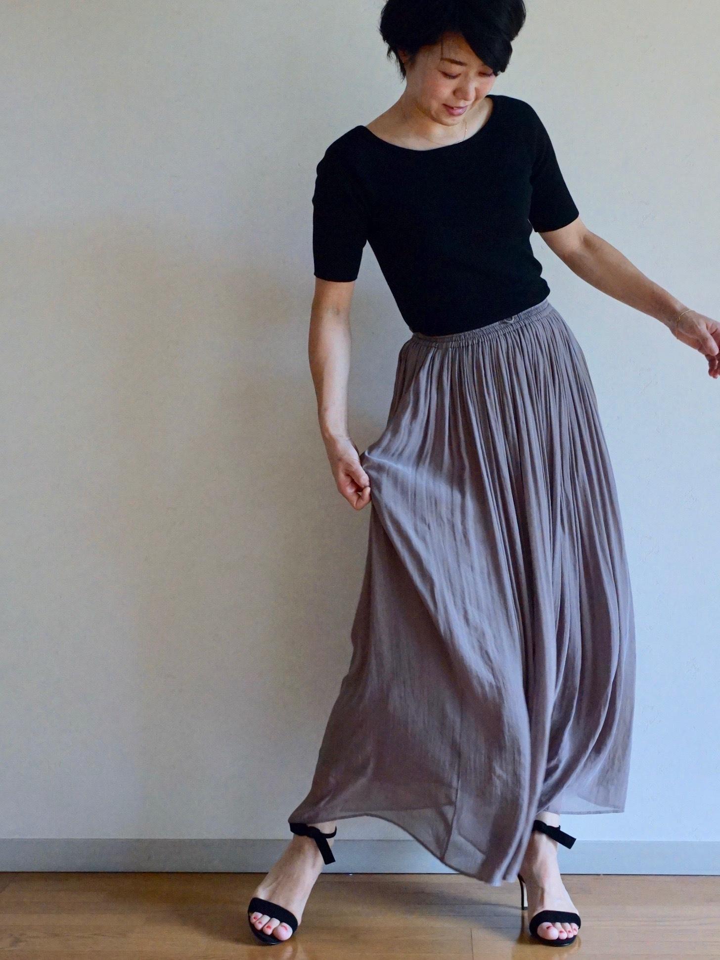 女っぷりを叶えてくれるふんわりスカートで私のワンツーコーデ_1_1-2