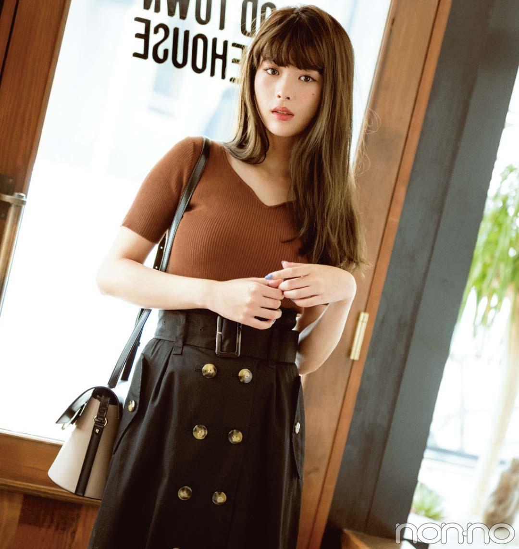 今すぐ着られる秋トレンド★シンプル服をブラウンに変えるだけでコーデに差がつく!_1_2