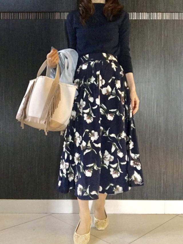 花柄スカートは甘すぎず上品に♡大人の選び方_1_1