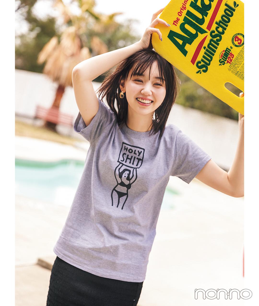 江野沢愛美が着るHOLY SHITショップTシャツコーデ31