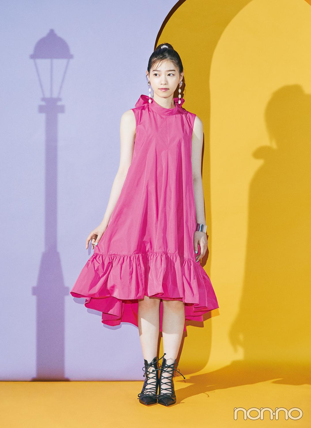 【西野七瀬のドレスでまちぶせ vol.2】REDValentinoのピンクドレス_1_2
