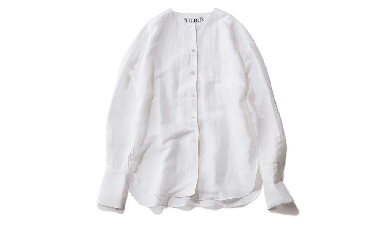 THIRD MAGAZINEのリネンシャツ