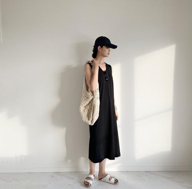 Uniqlo×Mame Kurogouchiコラボワンピース 着回しコーデ【40代 私のクローゼット】_1_4