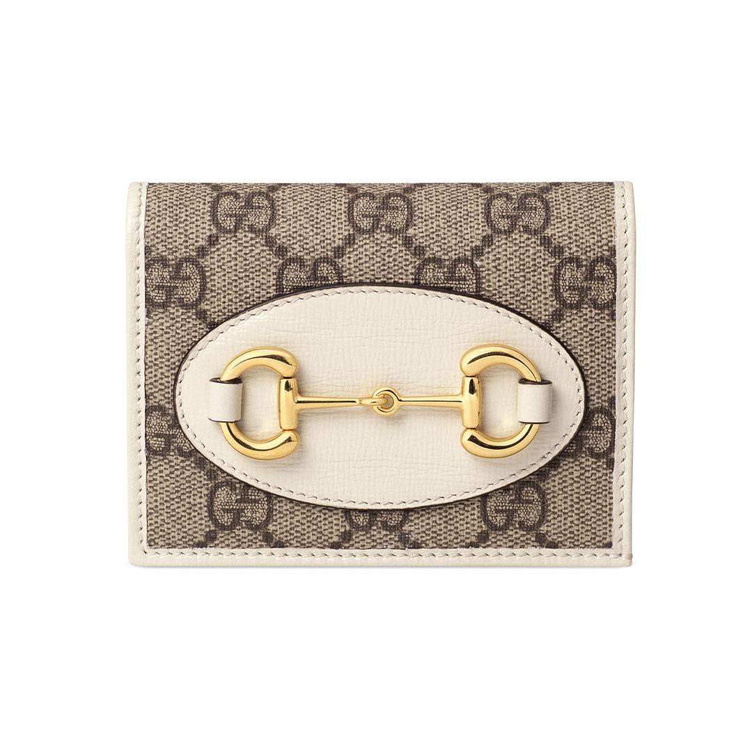 二つ折り財布「1955 ホースビット  ミニウォレット」¥46000/グッチ ジャパン(グッチ)