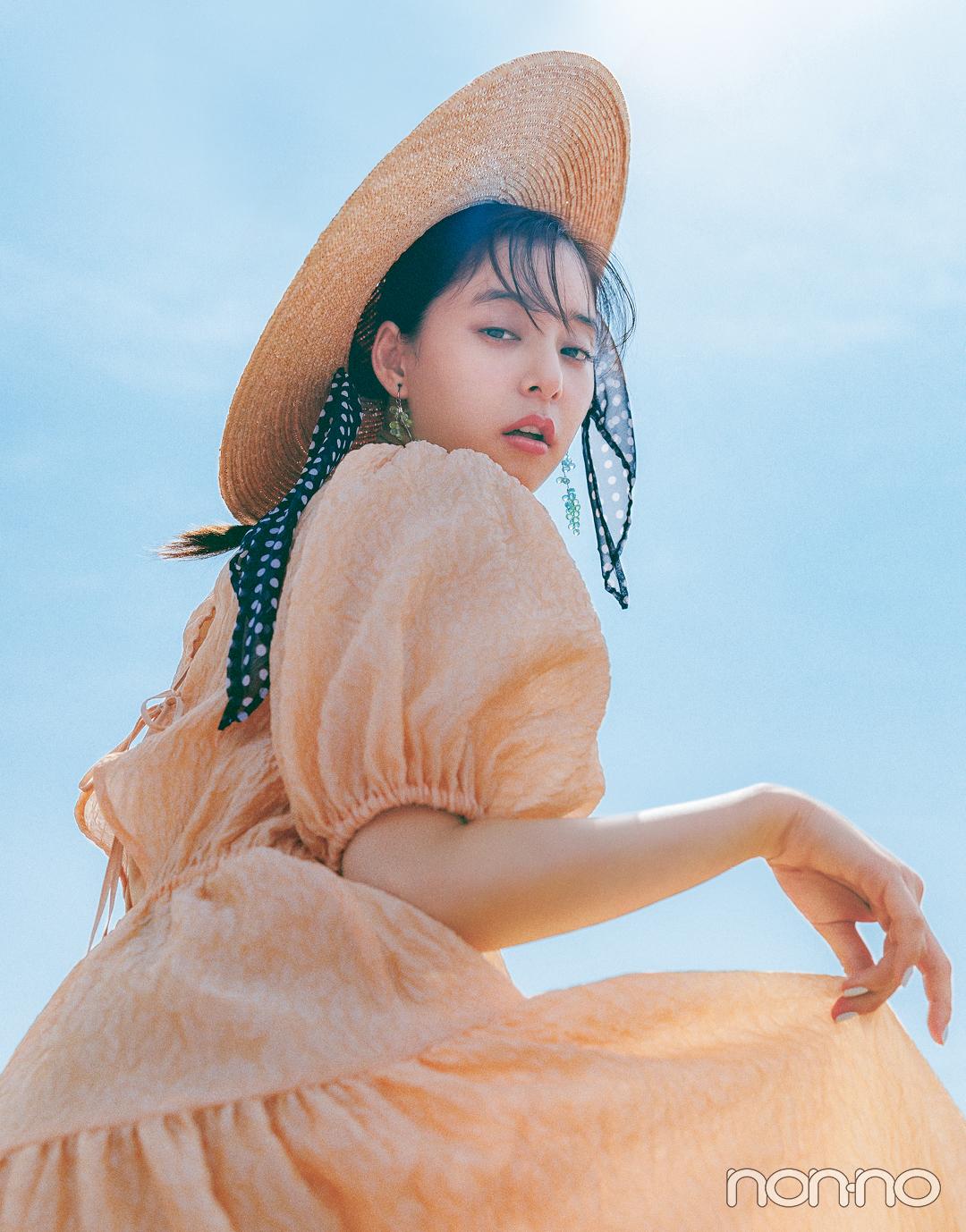 新木優子がこの夏着たいパフスリーブ