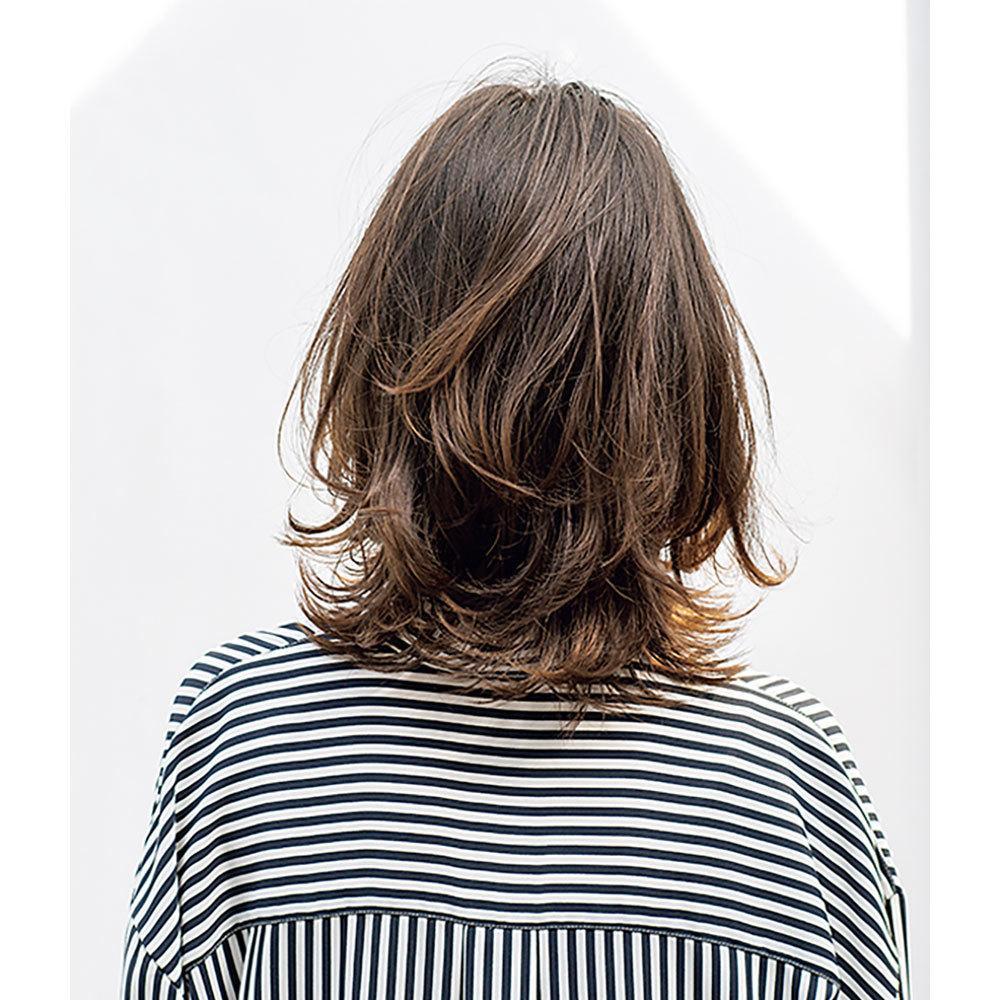 後ろから見た人気ランキング2位のヘアスタイル